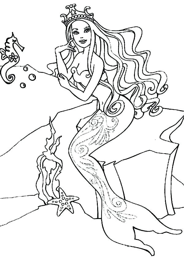 600x840 Barbie Horse Coloring Pages Barbie Princess Barbie Princess