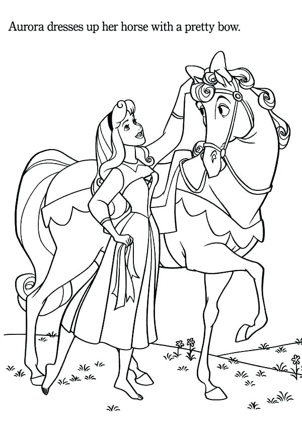 600x838 Barbie Horse Coloring Pages Horse Color Pages Princess Aurora Love
