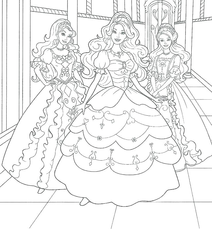 739x800 Barbie Ken Coloring Pages Barbie The Princess And The Pauper
