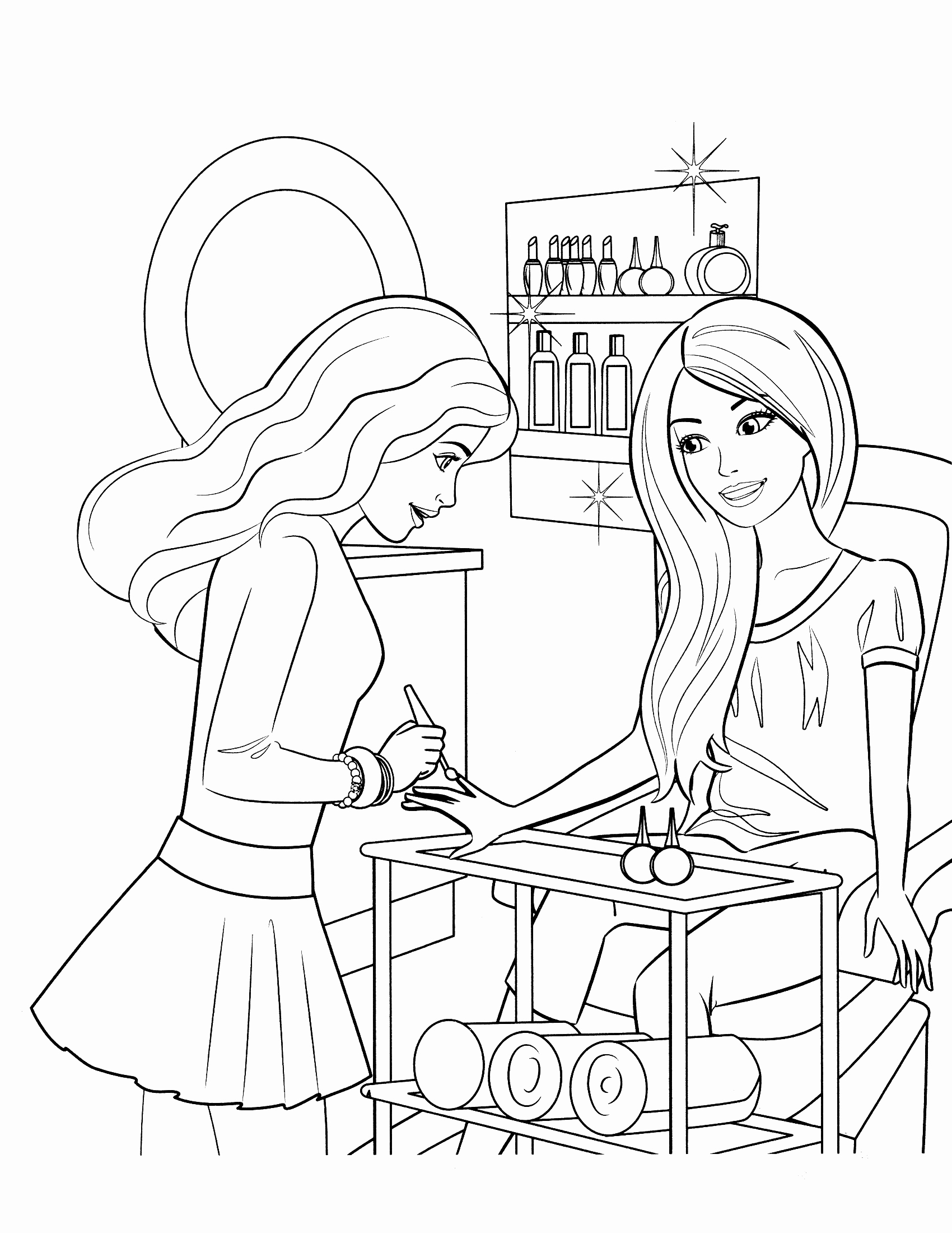 1700x2200 Edge Barbie And Ken Coloring Pages Free Printa
