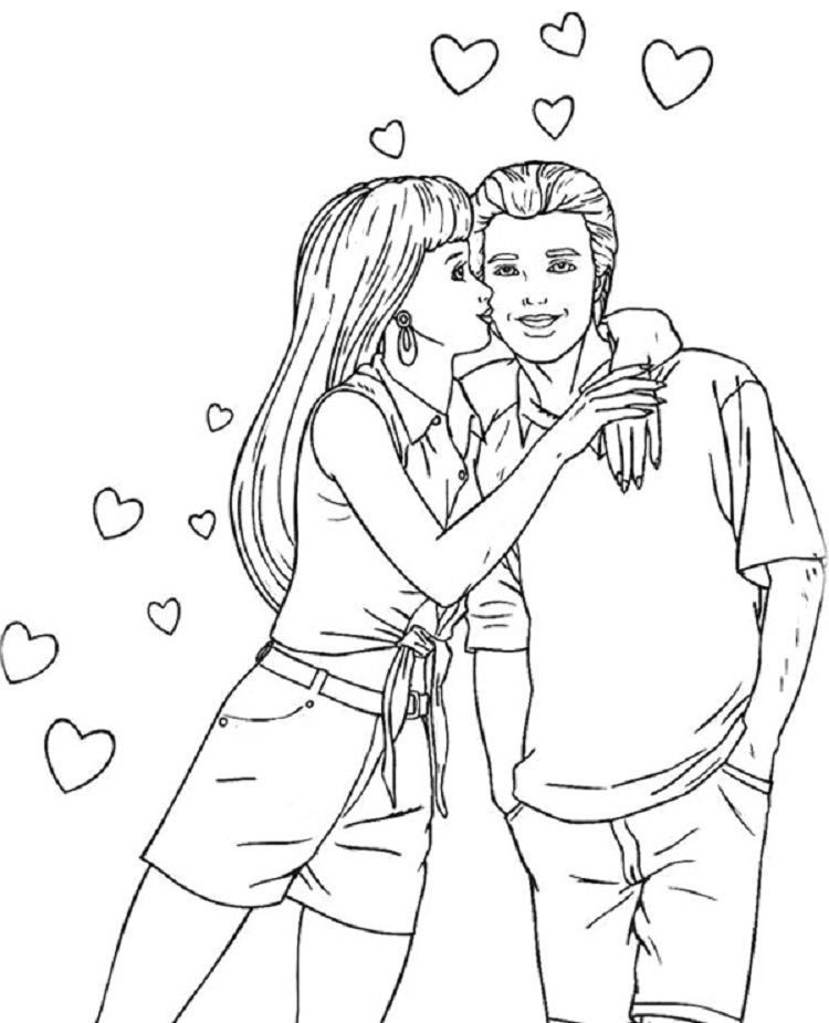750x925 Barbie Ken Coloring Pages