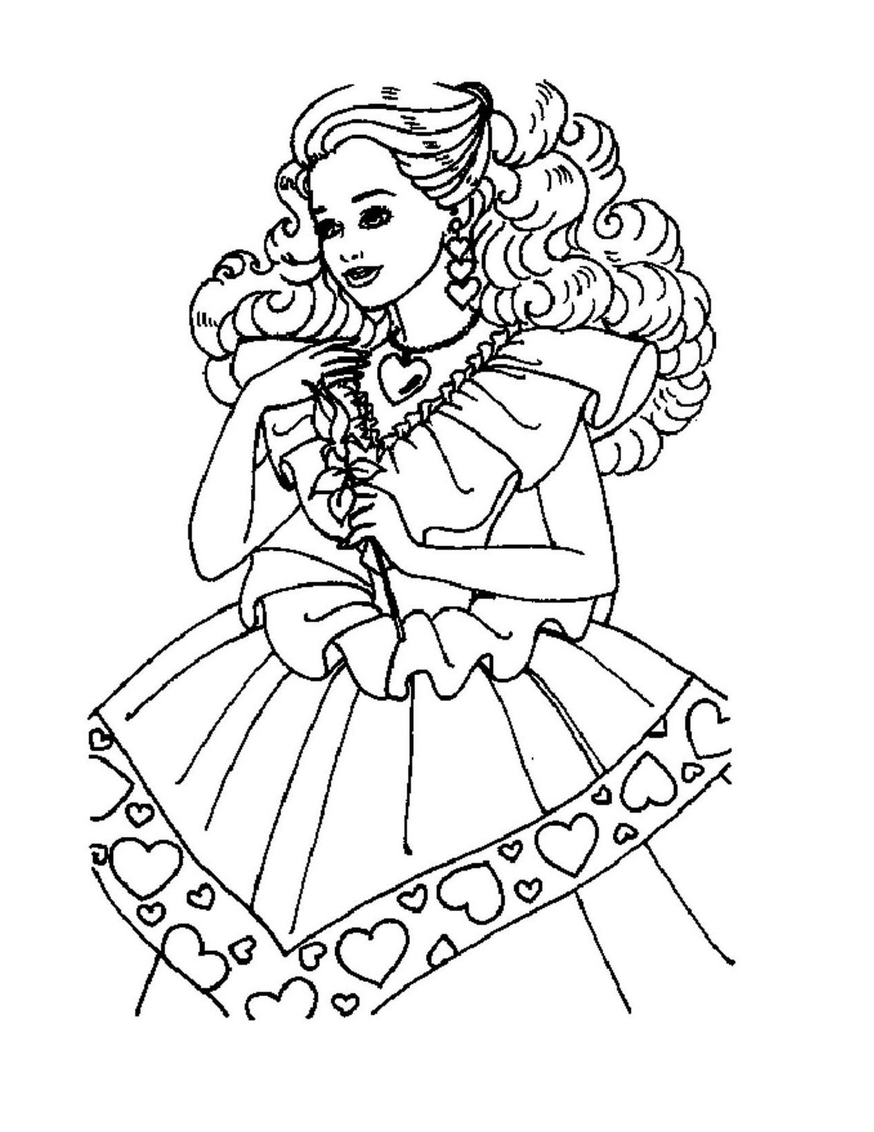 Barbie Princess Coloring Pages at GetDrawings | Free download
