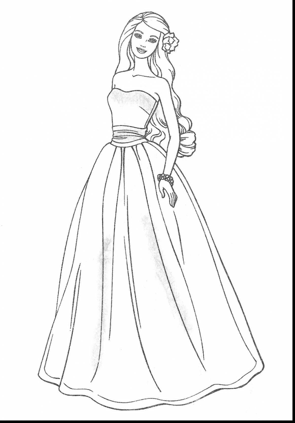 Barbie Princess Coloring Pages At Getdrawings Com Free For