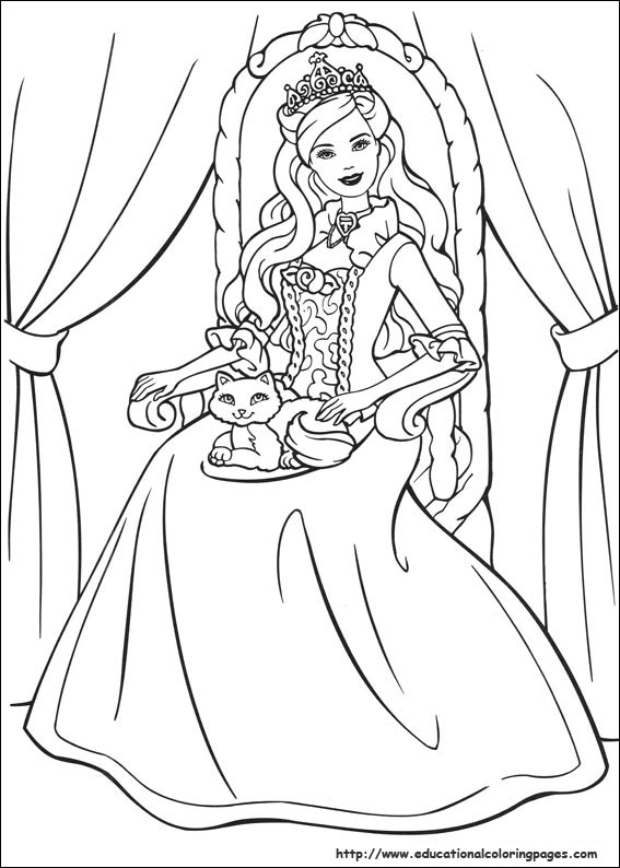 Barbie Princess Coloring Pages Free Printable at GetDrawings.com ...