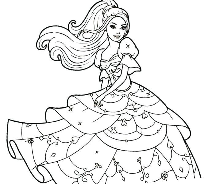 678x600 Barbie Princess Coloring Page Barbie Printable Ng Book Free Barbie