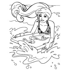 Barbie Printable Coloring Pages at GetDrawings.com | Free for ...