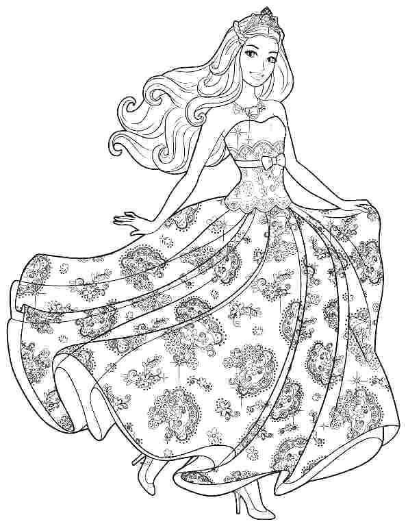 Barbie Printable Coloring Pages At Getdrawings Free Download