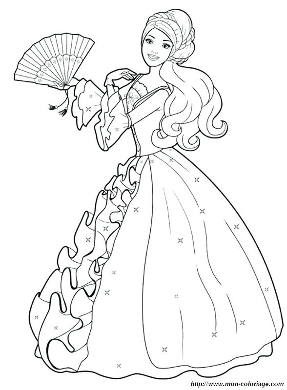 588x800 Kid Coloring Page Barbie Princess Coloring Pages Book Kid