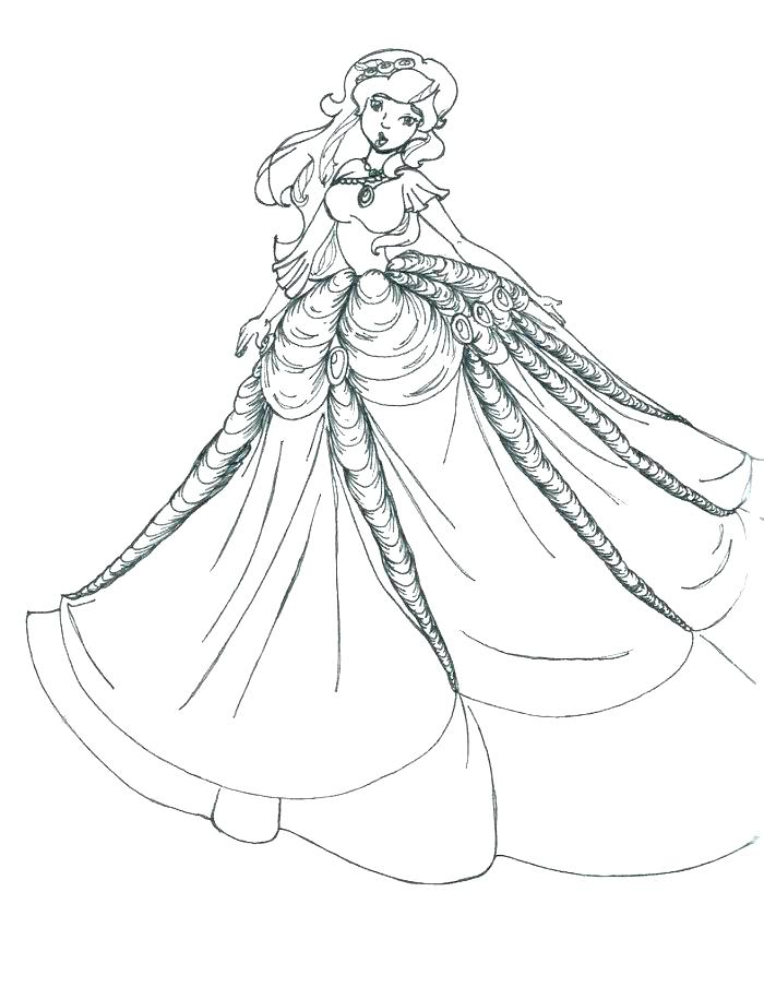 700x904 Wedding Dress Coloring Pages Dress Coloring Page Dress Coloring
