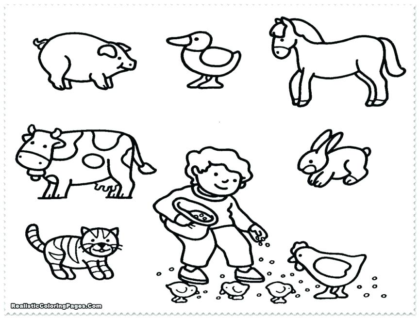 863x656 Barn Animals Coloring Pages Pin Drawn Farm Animals Color Free
