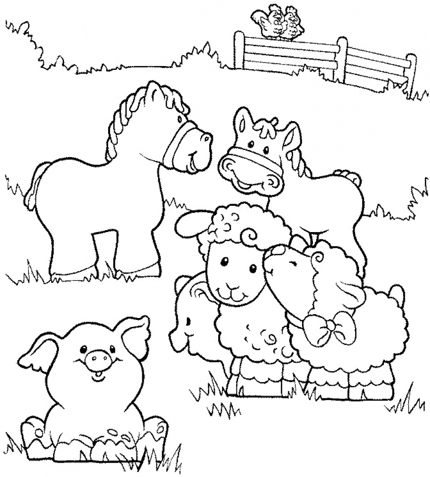 867x960 Coloring Pictures Of Barn Animals Copy Animal At Farm Pages