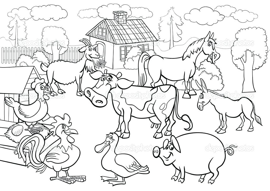 1024x724 Farm Animal Coloring Page Barn Animals Coloring Pages Cute Cow Cow