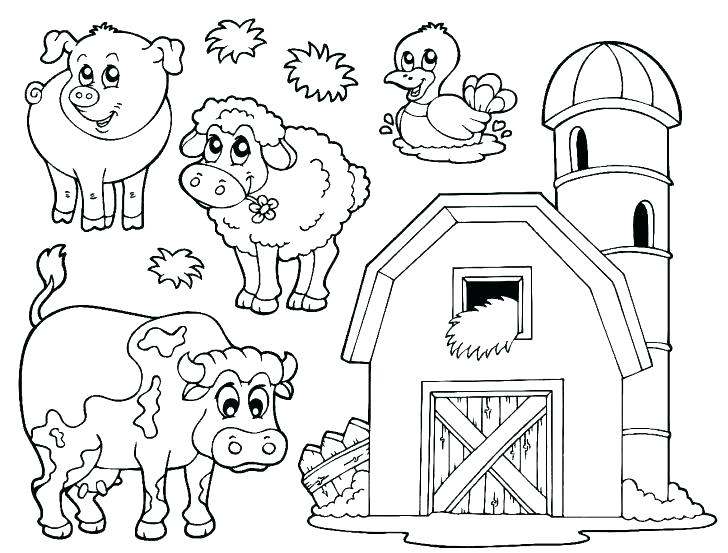 728x553 Animal Farm Coloring Pages Farm Animal Coloring Pages Farm