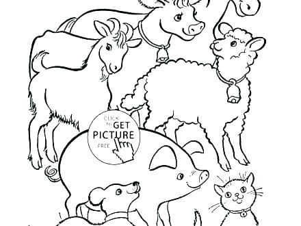 440x330 Free Barn Animals Coloring Pages Cute Farm Animal