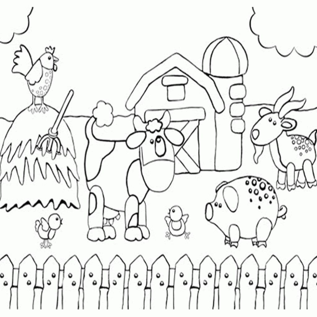 1024x1024 At Barn Animals Coloring Pages