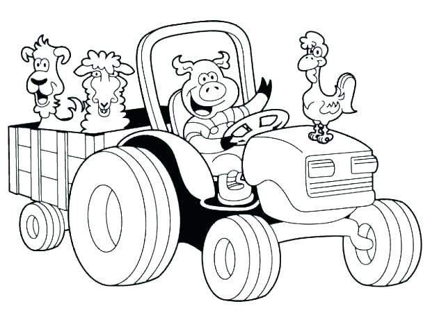 618x464 Farm Animal Coloring Pages Icontent