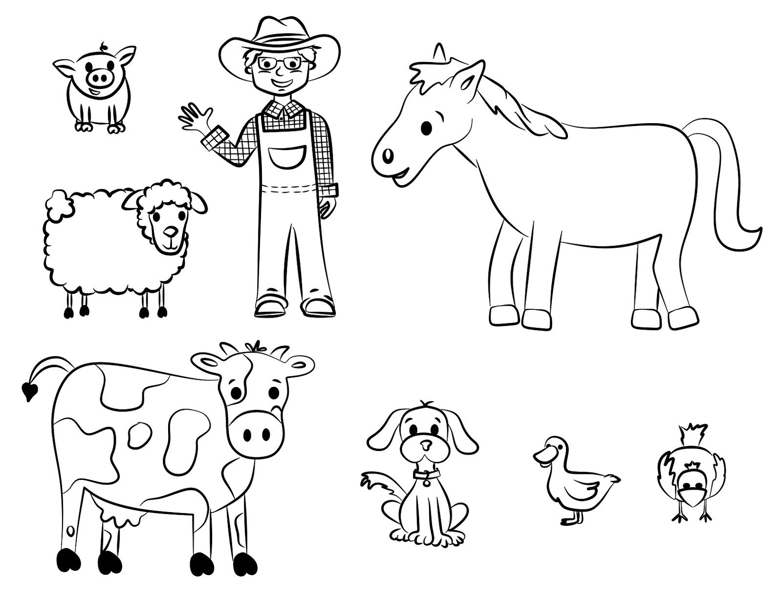 1600x1236 Barn Animals Coloring Pages