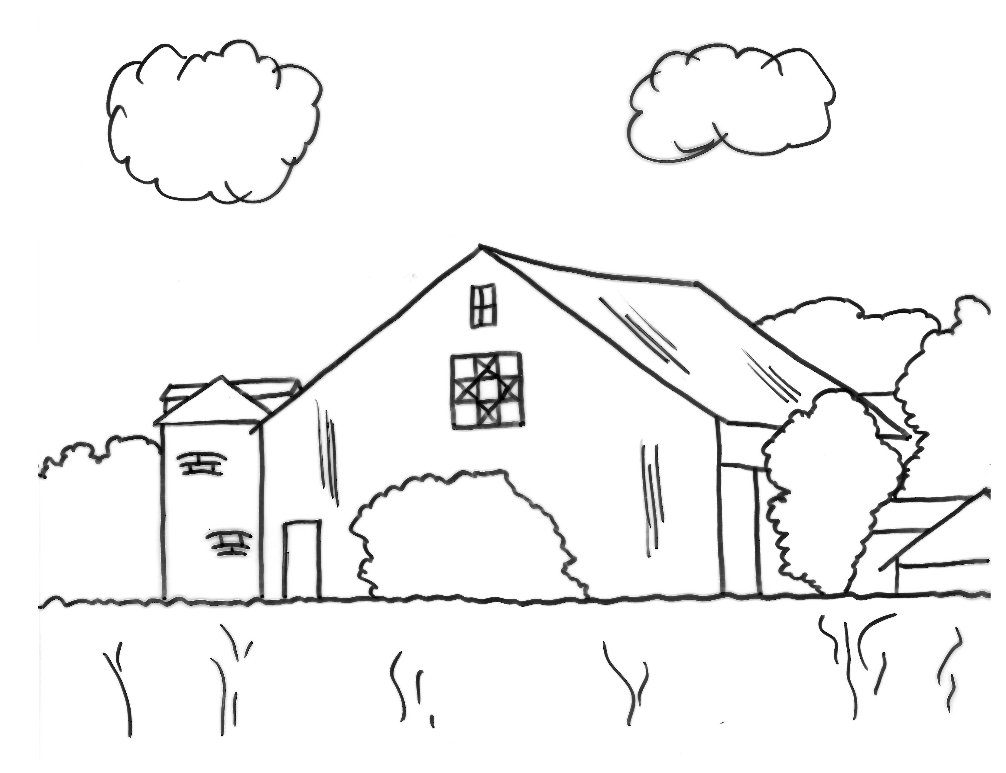 3328x2560 Barn Coloring Pages