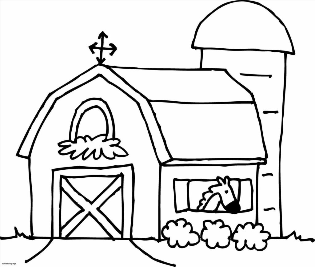 1024x867 Barn Coloring Pages