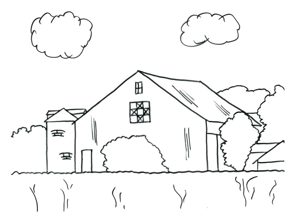 945x727 Barn Coloring Pages Barn Coloring Pages Pictures Barn Coloring