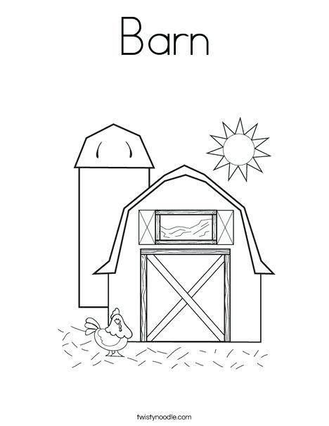 468x605 Barn Coloring Pages Barn With Hen Coloring Page Barnyard Printable