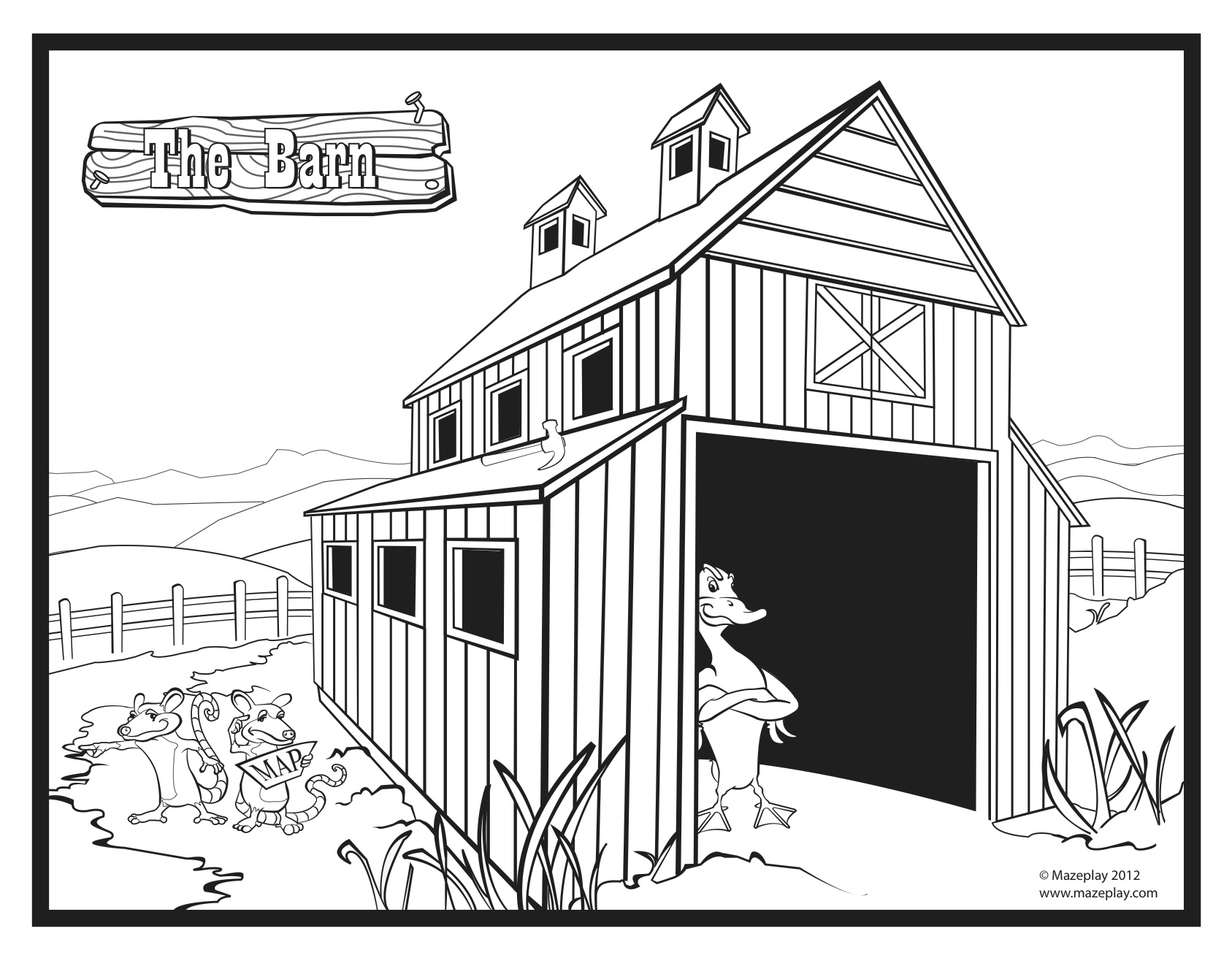 Barn Coloring Pages at GetDrawings.com | Free for personal ...