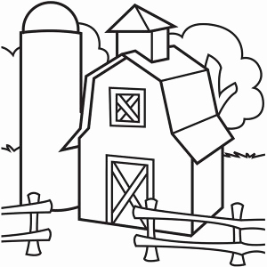 300x300 Farm House Coloring Pages Barn Coloring Pages