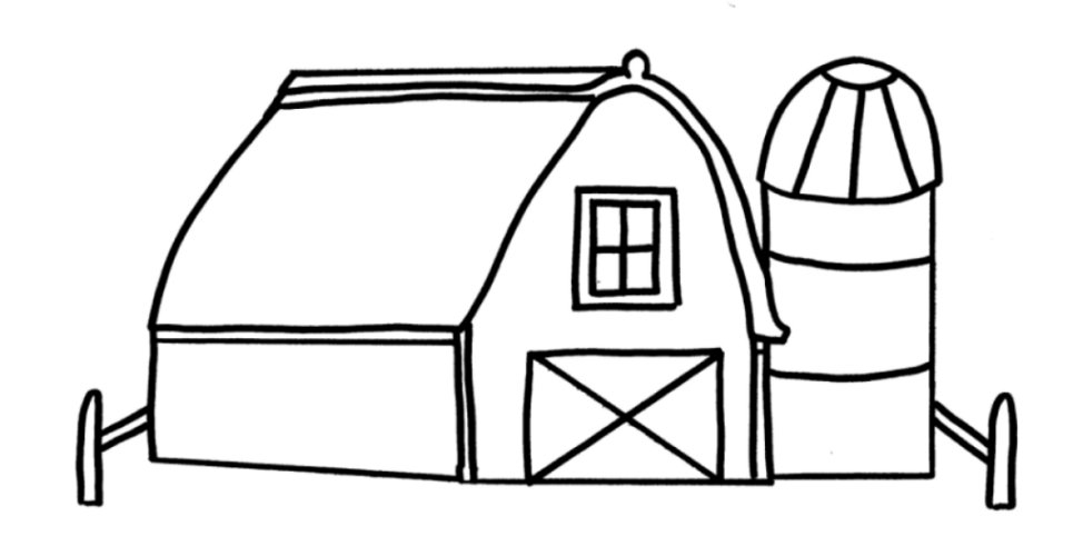 974x500 Free Printable Barn Coloring Pages Barn Coloring Pages