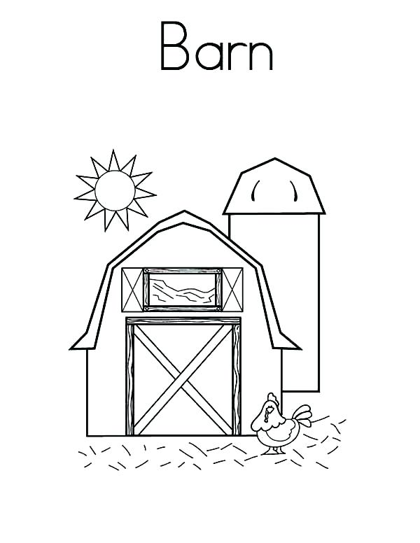 600x776 Barn Coloring Page Barn Sunshine Over A Coloring Page Color Farm
