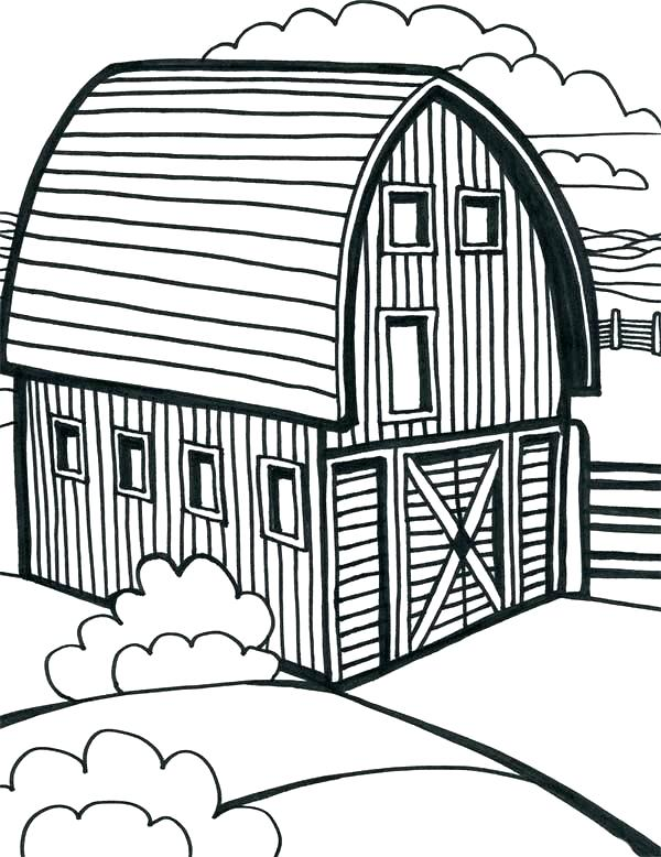 600x778 Barn Coloring Page Image Detail For Of Games Barn Coloring Page