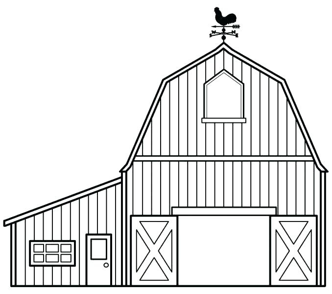 678x600 Barn Coloring Pages Free Printable Coloring Page