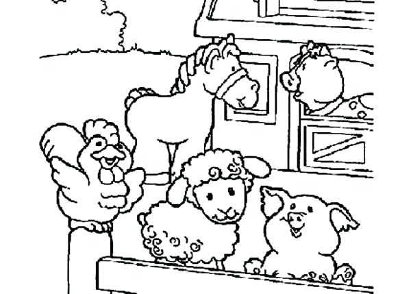 600x429 Barn Coloring Pages Free Barn Animals Coloring Pages Free Coloring
