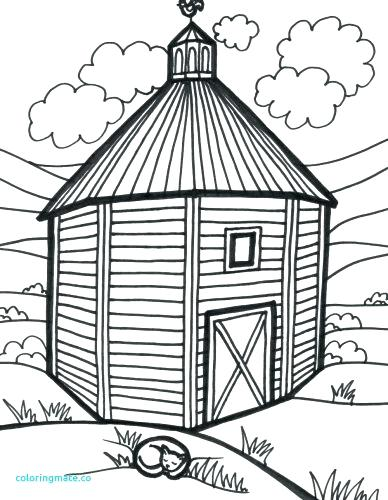 388x500 Barn Coloring Pages Free Medium Size Of Barn Coloring Pages