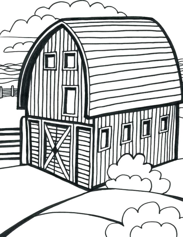 640x829 Barn Coloring Pages My Barn Coloring Page Barn Coloring Pages Free
