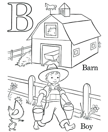 441x540 Barn Coloring Pages Simple Barn Coloring Pages Print Animals