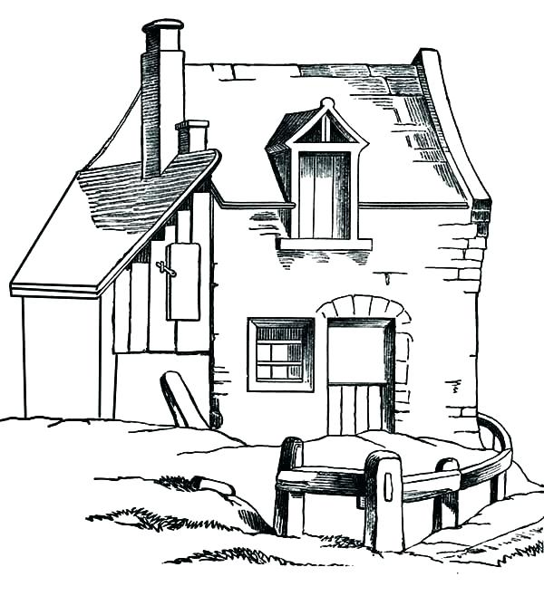 600x658 Barn Coloring Pages Swallow Barn Coloring Page Barn Coloring Pages