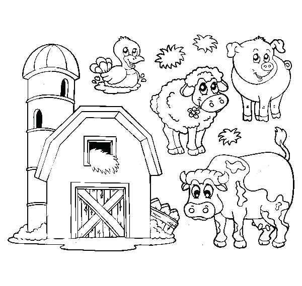 600x569 Barn Coloring Pages