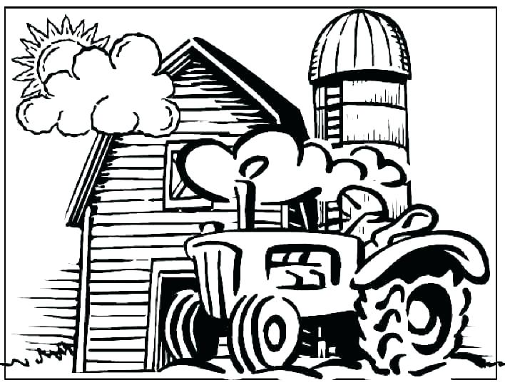 708x540 Farm Coloring Pages Free Printable Free Farm Coloring Pages Barn