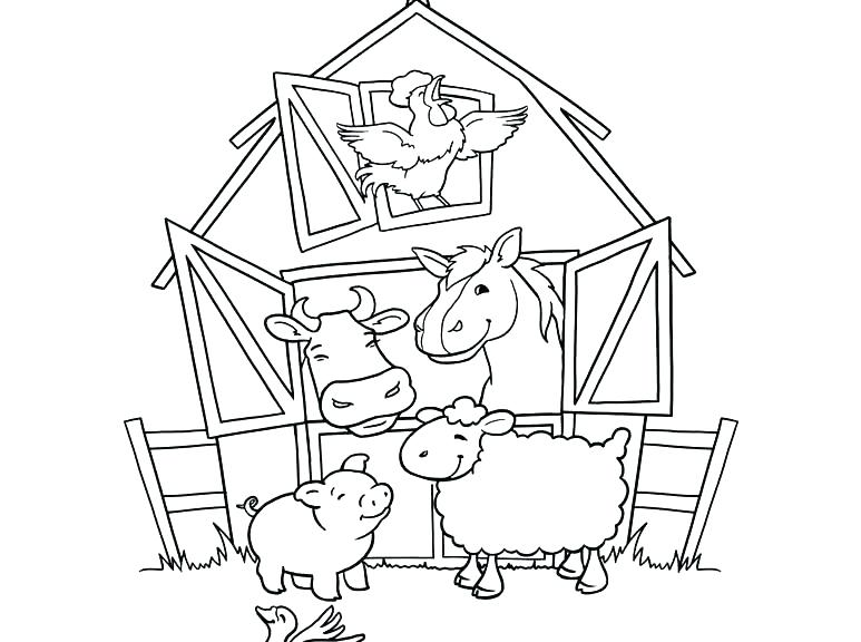 773x576 Barn Coloring Page Barn Coloring Pages Barnyard Coloring Pages Top