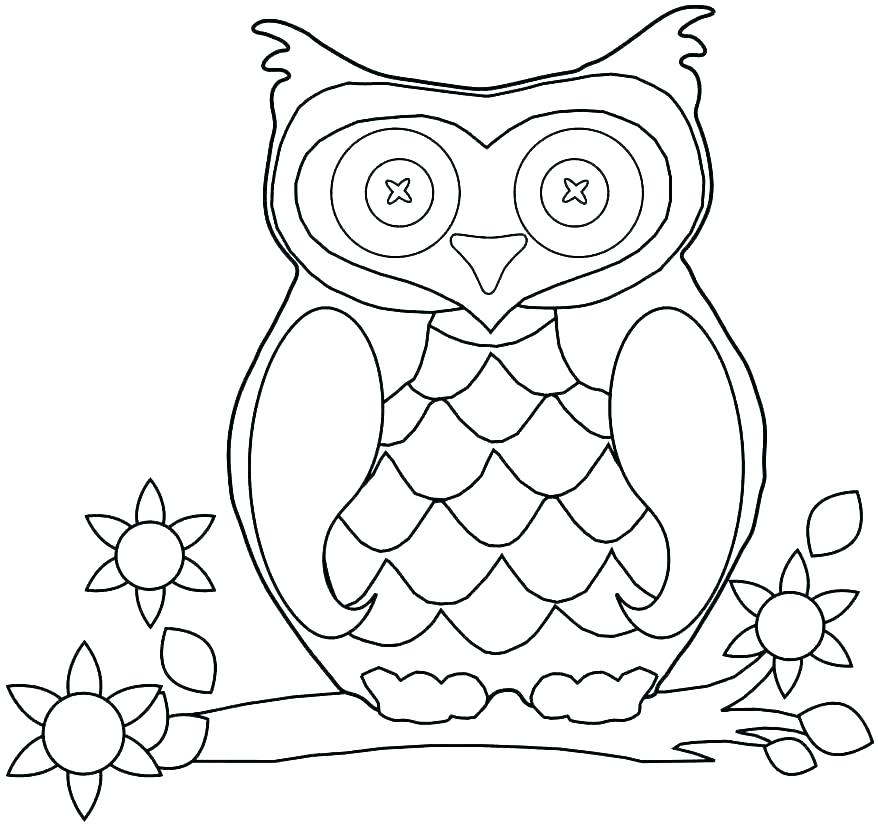 878x825 Coloring Page Of An Owl Barn Owl Coloring Page Coloring Pages Owls
