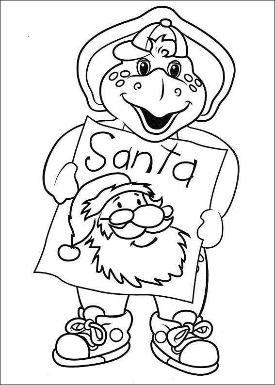Barney And Friends Coloring Pages At Getdrawings Com Free For