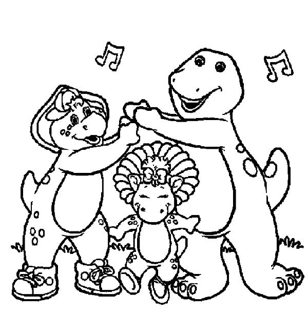 600x612 Barney Printable Coloring Pages