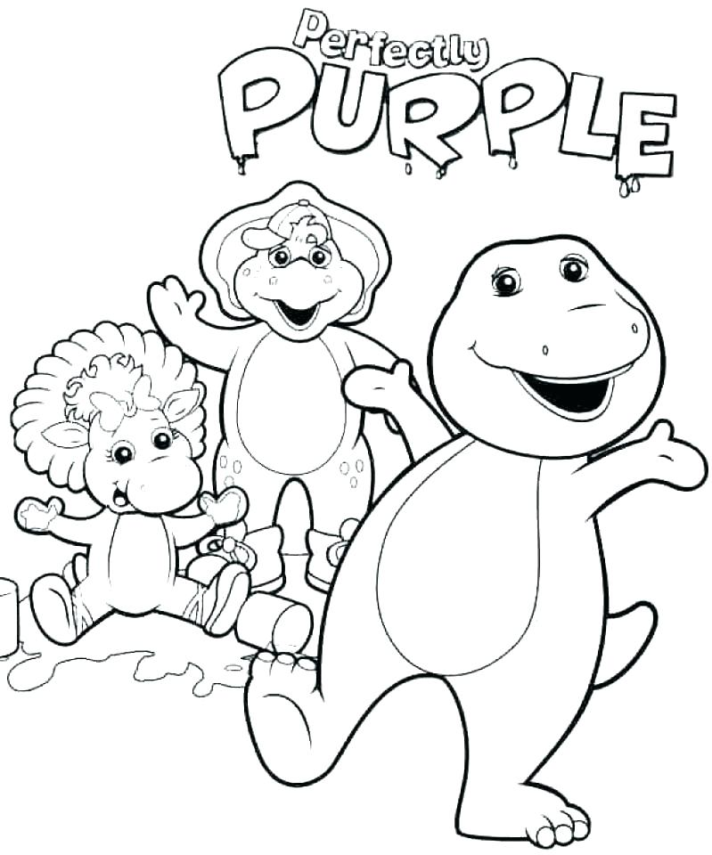 799x960 Barney Printable Coloring Pages Barney And Friends Coloring Pages