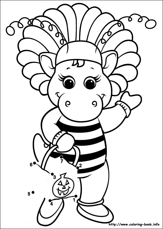 567x794 Barney And Friends Coloring Pages On Coloring