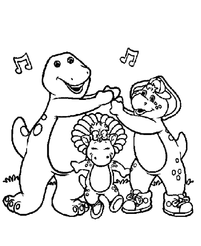400x490 Barney Coloring Pages