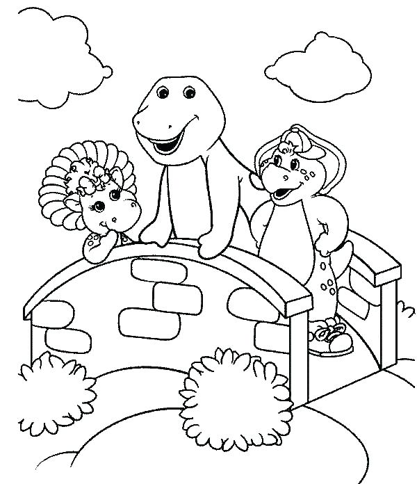 600x696 Coloring Pages Barney Coloring For Kids Printable Barney Smiling