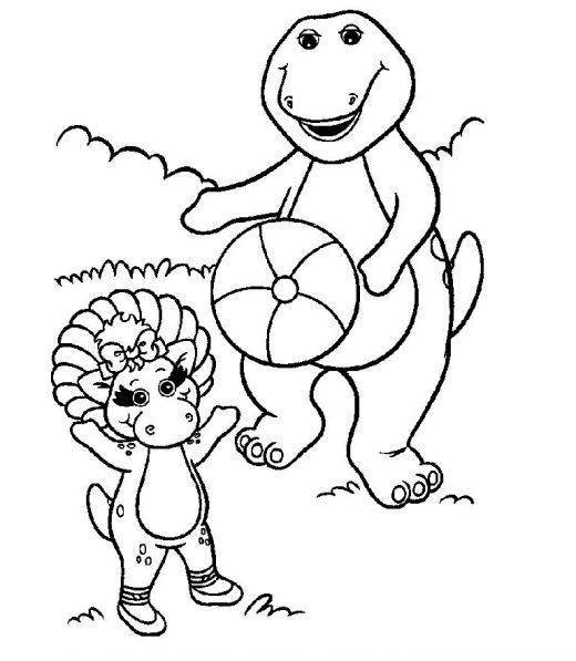 520x597 Free Printable Barney Coloring Pages Free Printable, Crayons And Box