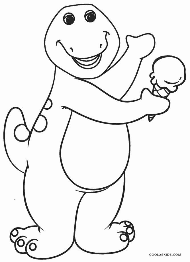 667x920 Free Printable Barney Coloring Pages For Kids