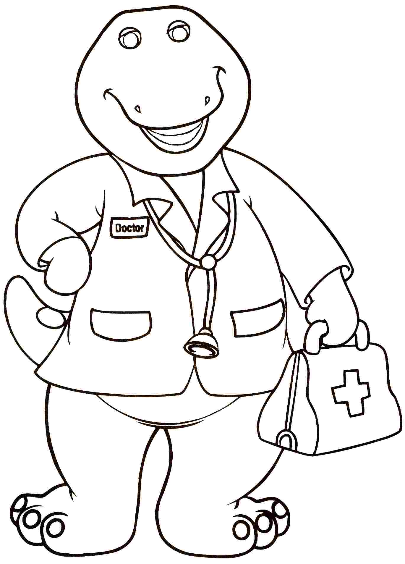 1370x1907 Lovely Barney Coloring Pages On Line Drawings With Barney