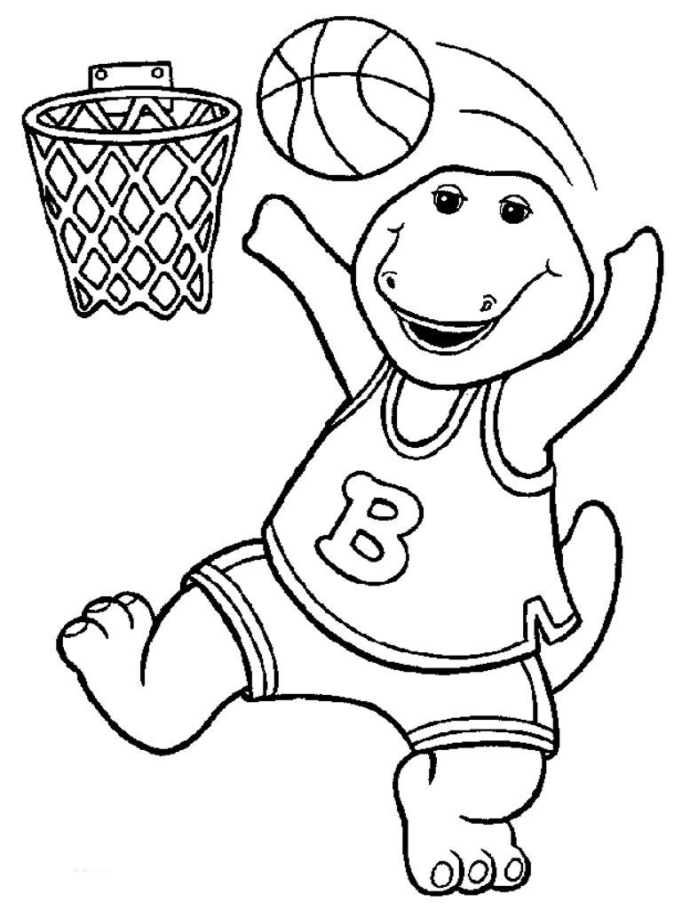 768x1024 Surprise Barney Dinosaur Coloring Pages The Pa